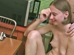Nerdy And Freaky Russian Teen Wants To Get Drunk And Fuck